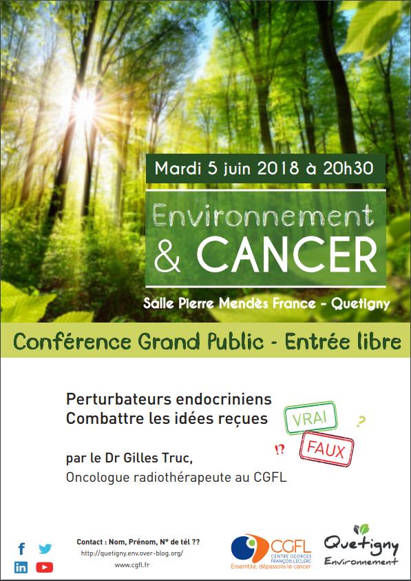 Conférence Environnement & Cancer à Quetigny