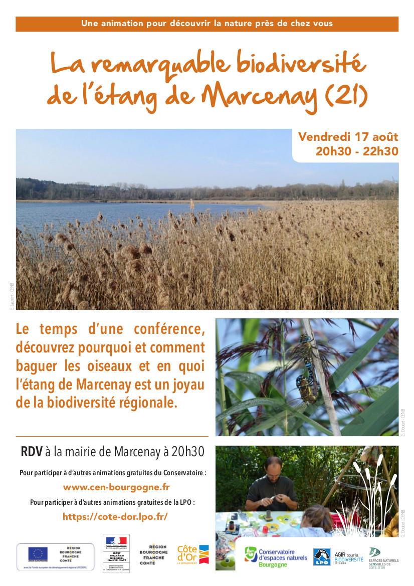 La remarquable biodiversité de l'étang de Marcenay